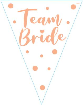 Party Bunting Team Bride 11 flags 3.9m - Banners & Bunting