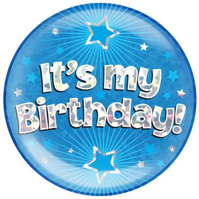 Oaktree Jumbo Badge - It's My Birthday Blue - Jumbo Badges