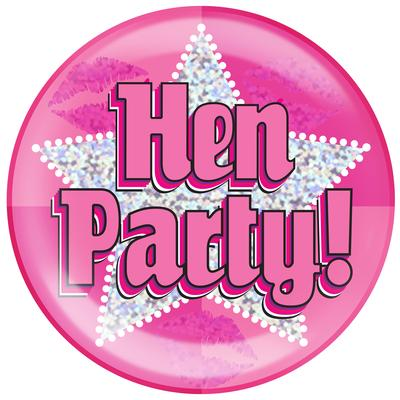 Oaktree Holographic Jumbo Badge - Hen Party - Jumbo Badges