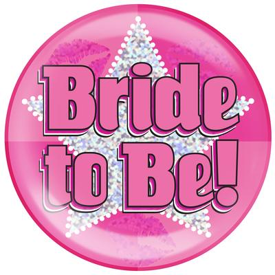 Oaktree Holographic Jumbo Badge - Bride to Be - Jumbo Badges