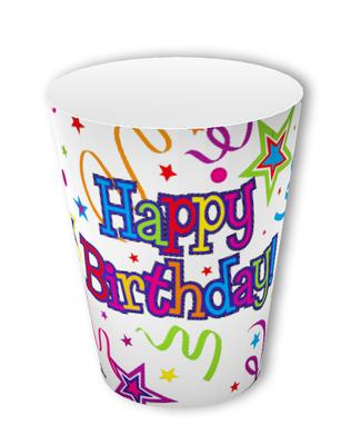 Ribbons and Stars 9oz/266ml Cups 8pcs - Partyware