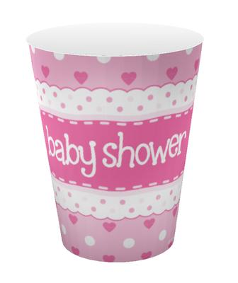 Oaktree Baby Shower Pink 9oz/266ml Cups 8pcs - Partyware