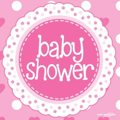 Baby Shower Pink 33cm x 33cm 3-ply Napkins 16pcs - Partyware