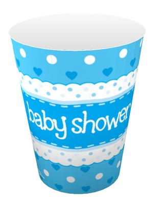 Oaktree Baby Shower Blue 9oz/266ml Cups 8pcs - Partyware