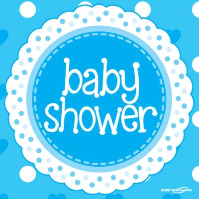 Baby Shower Blue 33cm x 33cm 3-ply Napkins 16pcs - Partyware