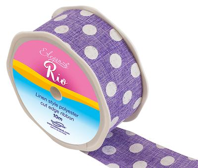 Eleganza Rio Polka Dot 38mm x 10m Lavender No.45 - Ribbons