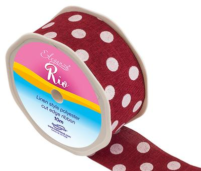 Eleganza Rio Polka Dot 38mm x 10m Red No.16 - Ribbons