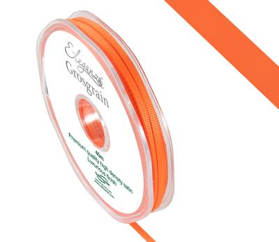 Eleganza Premium Grosgrain Ribbon 3mm x 40m Orange No.04 - Ribbons
