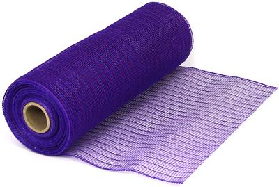 Eleganza Deco Mesh Metallic 25cm x 9.1m (10yds) Purple No.36 - Organza / Fabric