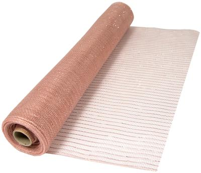 Eleganza Deco Mesh Metallic 53cm x 9.1m (10yds) Rose Gold No.87 - Organza / Fabric