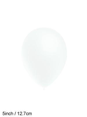 Decotex Pro 5inch Fashion Solid No.01 White x100pcs - Latex Balloons