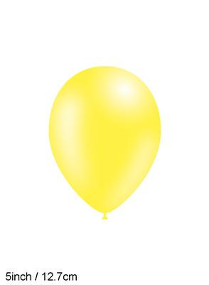 Decotex Pro 5inch Fashion Solid No.11 Yellow x100pcs - Latex Balloons