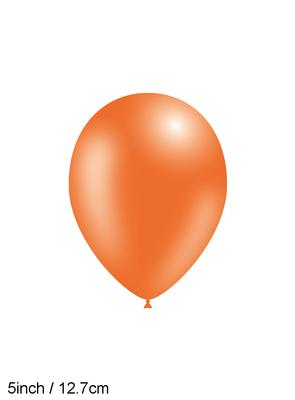 Decotex Pro 5inch Fashion Solid No.04 Orange x100pcs - Latex Balloons