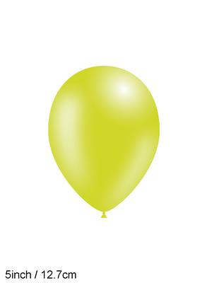 Decotex Pro 5inch Fashion Solid No.14 Lime Green x100pcs - Latex Balloons