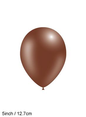 Decotex Pro 5inch Fashion Solid No.58 Chocolate x100pcs - Latex Balloons