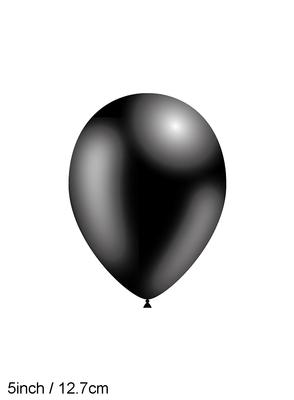 Decotex Pro 5inch Fashion Solid No.20 Black x100pcs - Latex Balloons