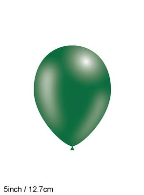 Decotex Pro 5inch Metallic No.84 Forest Green x100pcs - Latex Balloons