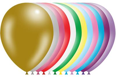 Decotex Pro 11inch Metallic Assorted x50pcs - Latex Balloons