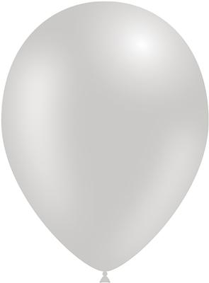 Decotex Pro 11inch Metallic No.24 Silver x50pcs - Latex Balloons