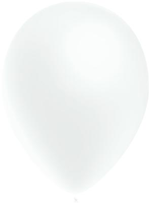 Decotex Pro 11inch Metallic No.01 White x50pcs - Latex Balloons
