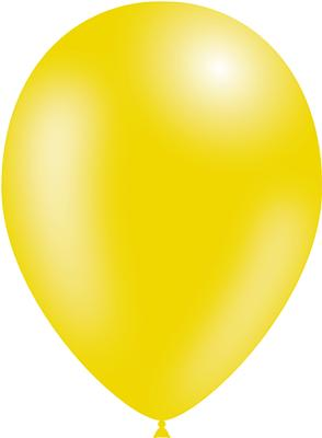Decotex Pro 11inch Metallic No.11 Yellow x50pcs - Latex Balloons