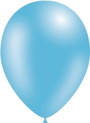 Decotex Pro 11inch Metallic No.25 Lt Blue x50pcs - Latex Balloons