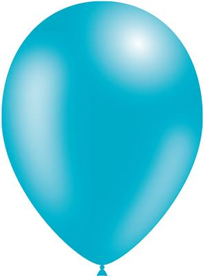 Decotex Pro 11inch Metallic No.86 Turquoise Green x50pc - Latex Balloons