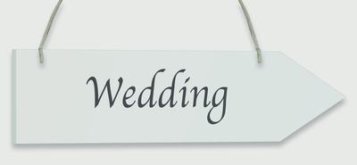 Wooden Arrow Whitewash 30.5cm x 7.6cm Wedding 1pc - Accessories