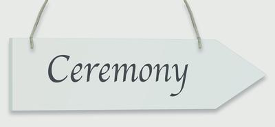 Wooden Arrow Whitewash 30.5cm x 7.6cm Ceremony 1pc - Accessories
