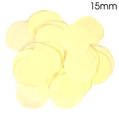 Oaktree Tissue Paper Confetti Flame Retardant Round 15mm x 14g Ivory - Accessories