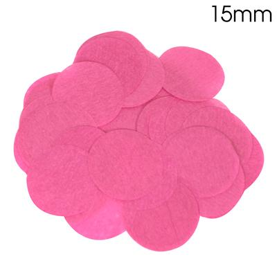 Oaktree Tissue Paper Confetti Flame Retardant Round 15mm x 14g Fuchsia - Accessories