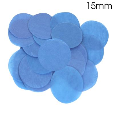 Oaktree Tissue Paper Confetti Flame Retardant Round 15mm x 14g Blue - Accessories