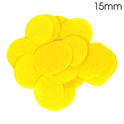 Oaktree Tissue Paper Confetti Flame Retardant Round 15mm x 14g Yellow - Accessories