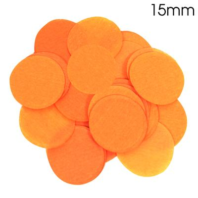 Oaktree Tissue Paper Confetti Flame Retardant Round 15mm x 14g Orange - Accessories