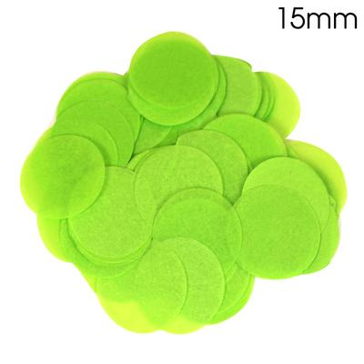 Oaktree Tissue Paper Confetti Flame Retardant Round 15mm x 14g Lime Green - Accessories