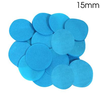 Oaktree Tissue Paper Confetti Flame Retardant Round 15mm x 14g Turquoise - Accessories