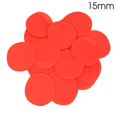 Oaktree Tissue Paper Confetti Flame Retardant Round 15mm x 14g Red - Accessories