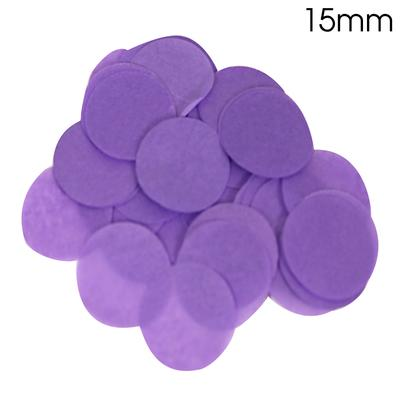 Oaktree Tissue Paper Confetti Flame Retardant Round 15mm x 14g Purple - Accessories