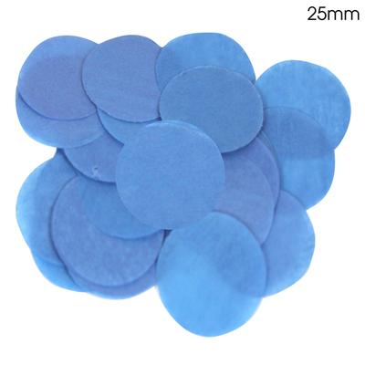 Oaktree Tissue Paper Confetti Flame Retardant Round 25mm x 14g Blue - Accessories