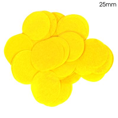 Oaktree Tissue Paper Confetti Flame Retardant Round 25mm x 14g Yellow - Accessories