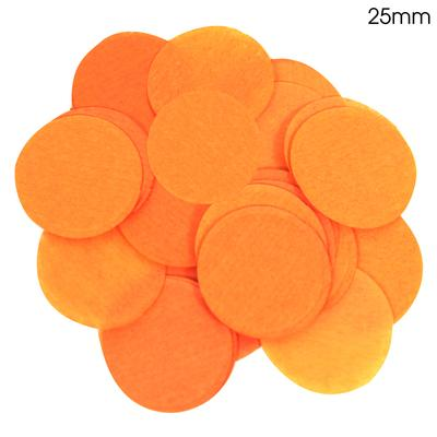 Oaktree Tissue Paper Confetti Flame Retardant Round 25mm x 14g Orange - Accessories