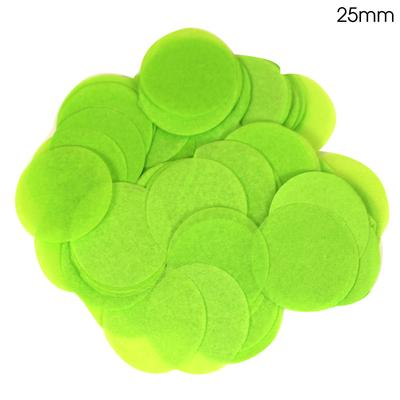 Oaktree Tissue Paper Confetti Flame Retardant Round 25mm x 14g Lime Green - Accessories