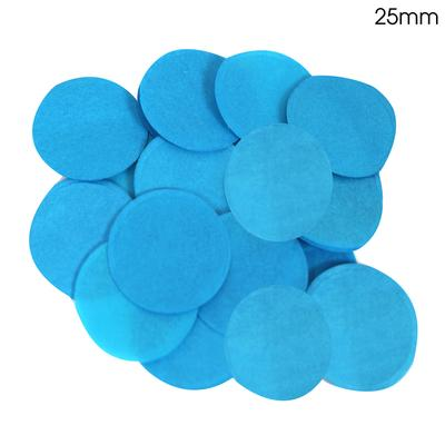 Oaktree Tissue Paper Confetti Flame Retardant Round 25mm x 14g Turquoise - Accessories