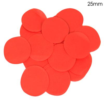 Oaktree Tissue Paper Confetti Flame Retardant Round 25mm x 14g Red - Accessories