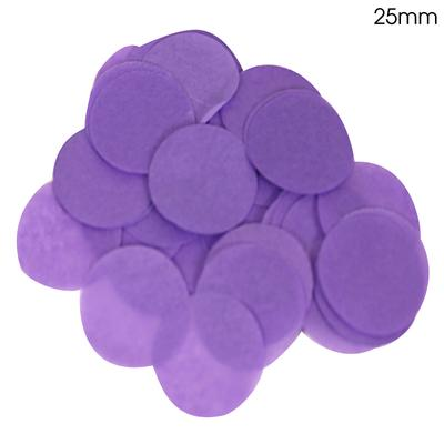 Oaktree Tissue Paper Confetti Flame Retardant Round 25mm x 14g Purple - Accessories