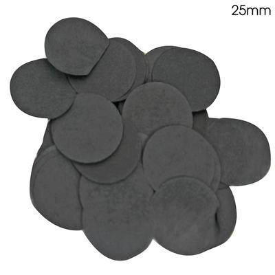 Oaktree Tissue Paper Confetti Flame Retardant Round 25mm x 14g Black - Accessories