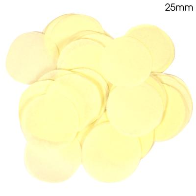 Oaktree Tissue Paper Confetti Flame Retardant Round 25mm x 100g Ivory - Accessories