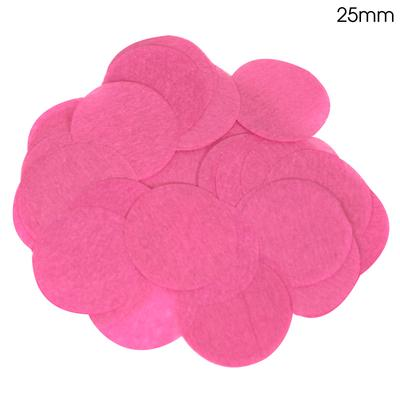 Oaktree Tissue Paper Confetti Flame Retardant Round 25mm x 100g Fuchsia - Accessories