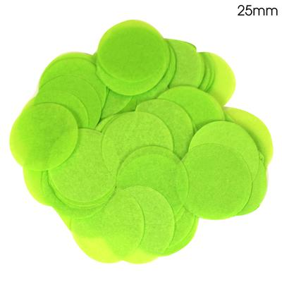 Oaktree Tissue Paper Confetti Flame Retardant Round 25mm x 100g Lime Green - Accessories