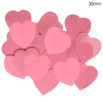 Oaktree Tissue Paper Confetti Flame Retardant Heart 30mm x 100g Lt. Pink - Accessories